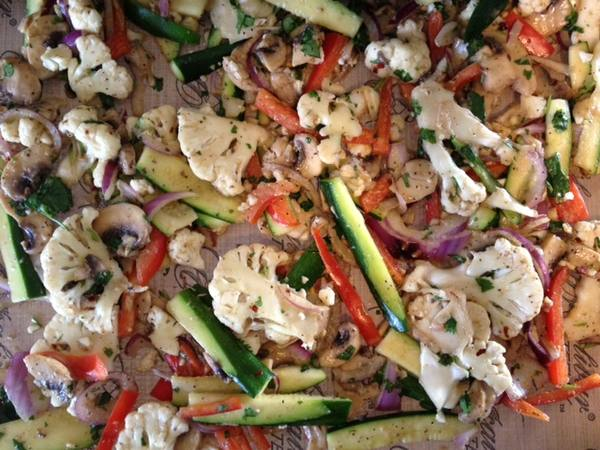 Vegetables stir fried