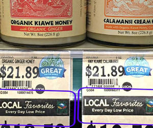 Product Labels Showing Local Favorites