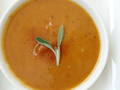 Photo: Roasted Red Pepper and Sweet Potato Soup