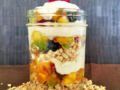 Overnight oats made with summer fruit