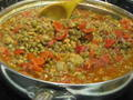 Photo: Spicy Lentils with Local Tomatoes
