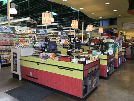 Photo: Check-out registers at Down to Earth Kapolei.