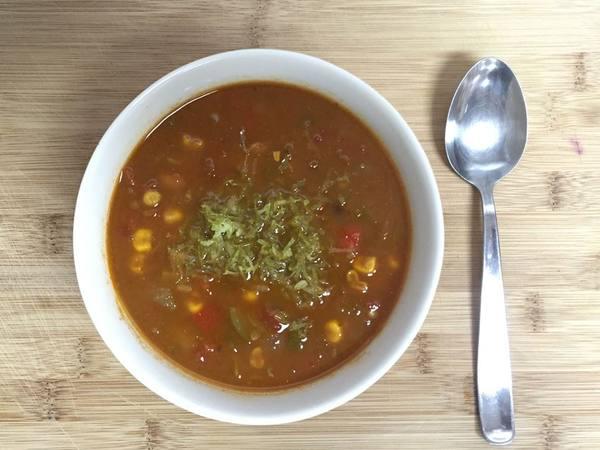 Photo: Black and Pinto Bean Soup