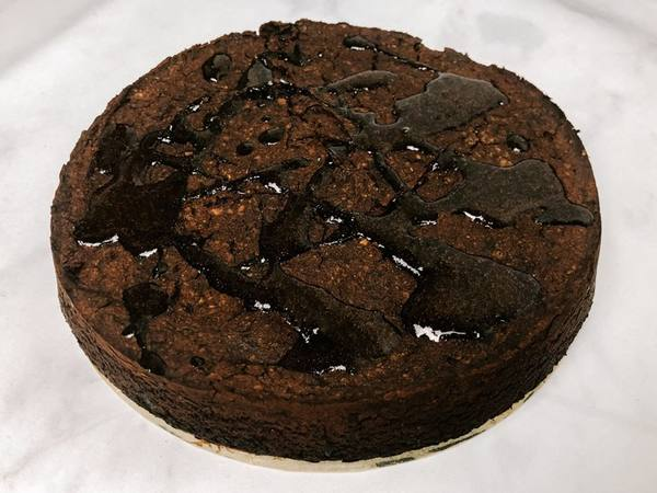 Photo: Round Carob Cake with a Carob Drizzle