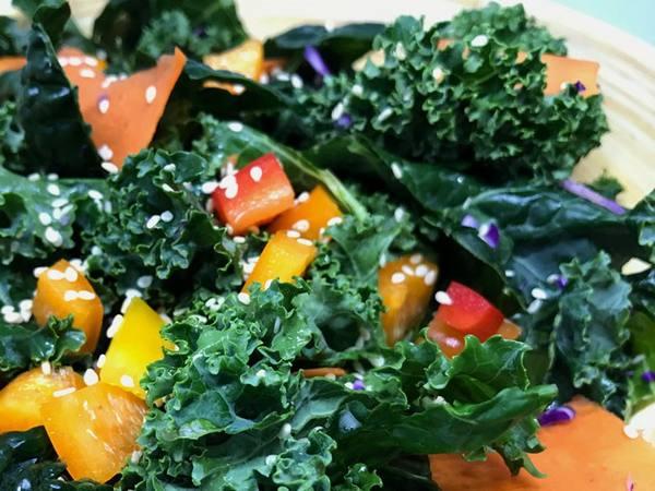 Photo: Kale Rainbow Slaw Salad