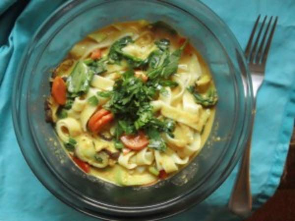 Photo: Vegetable Curry Noodle Stew