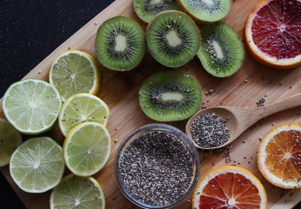 Photo: Sliced Fruits and Chia Seeds